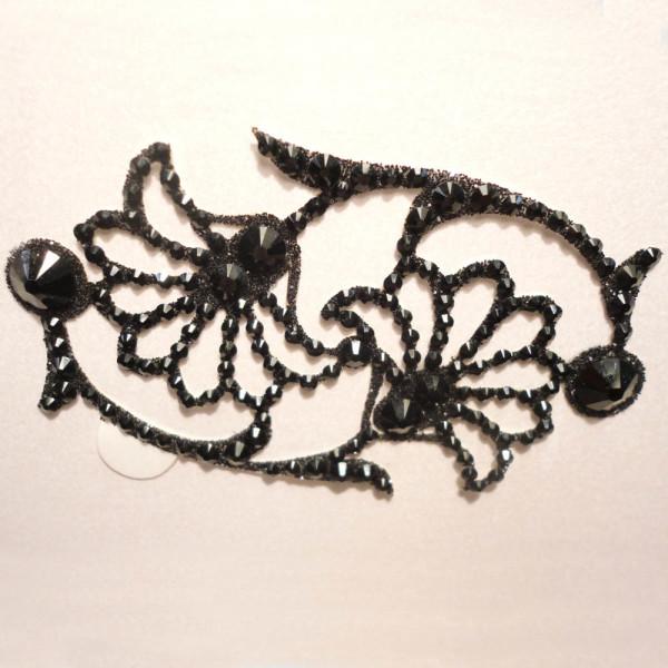 bijoux tattoo strass aida noir