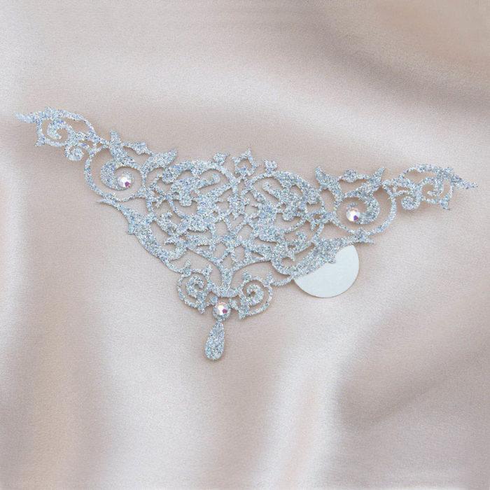 bijoux de peau alhambra argent fond satin
