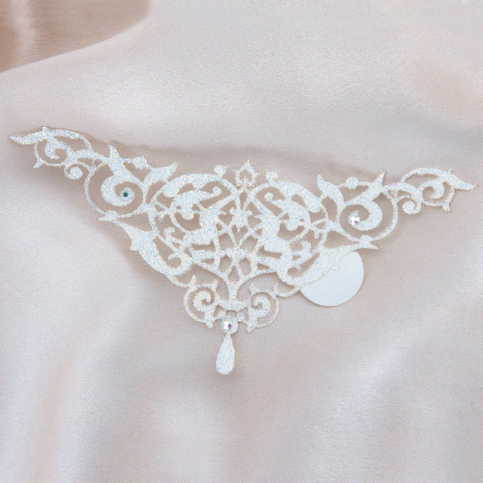 bijoux de peau alhambra blanc fond satin