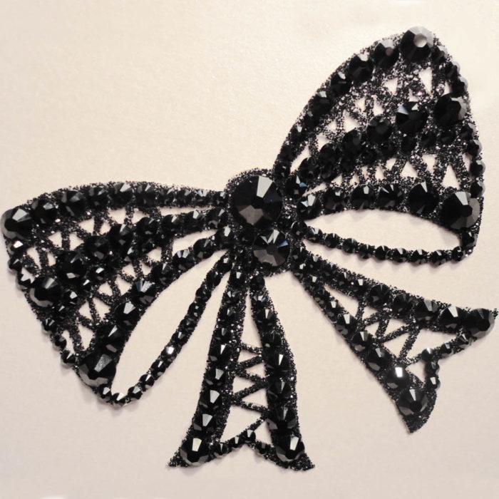 bijoux de peau strass alice noir