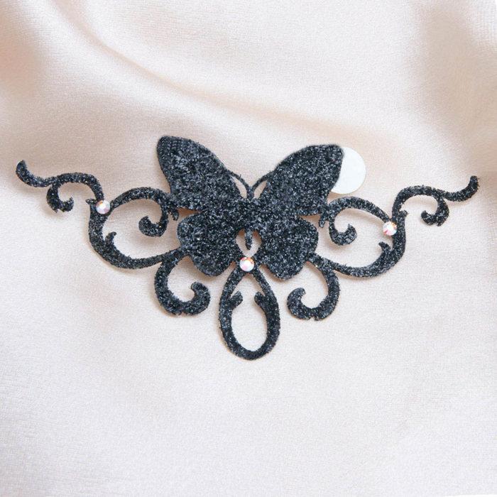 bijoux de peau brazilia noir fond satin