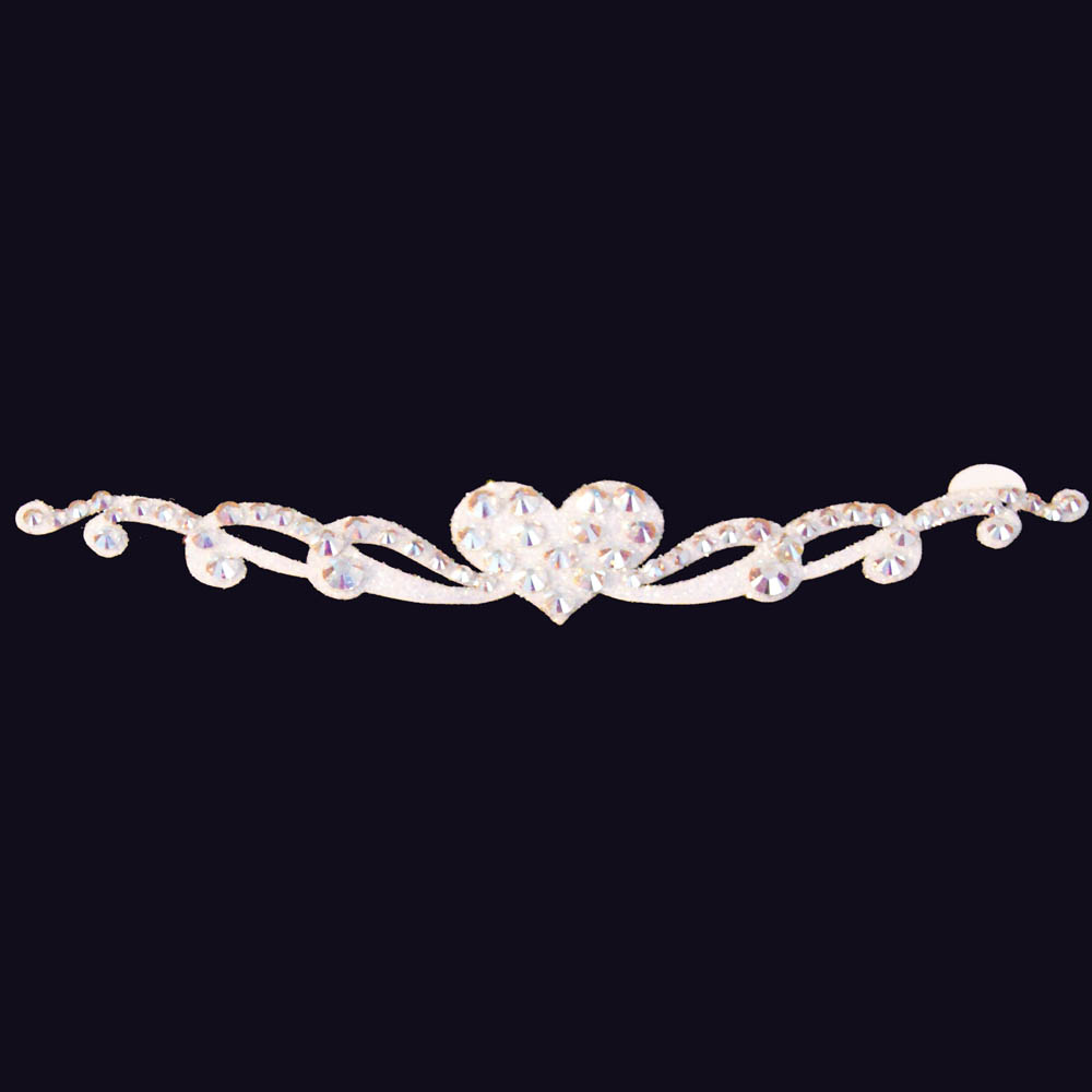 bijoux de peau strass carmen blanc