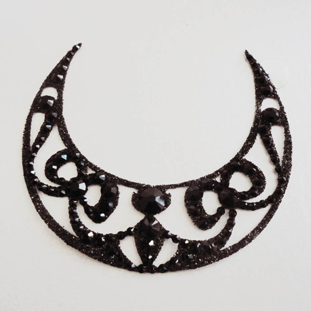 bijoux de peau strass dalila noir