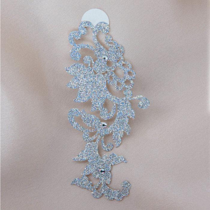 bijoux de peau dragon flower argent fond satin