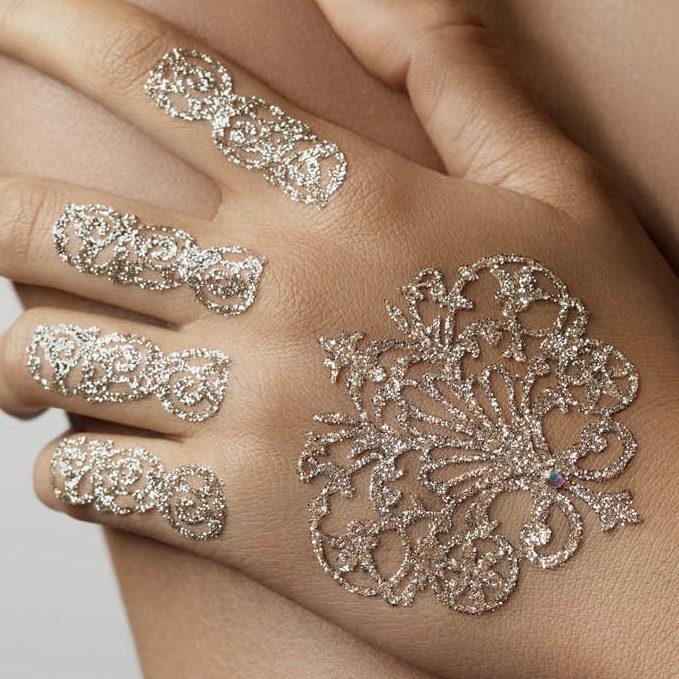 Bijoux de Peau Or Blanc Coffret Mariage bijoux de peau fantasia or porté