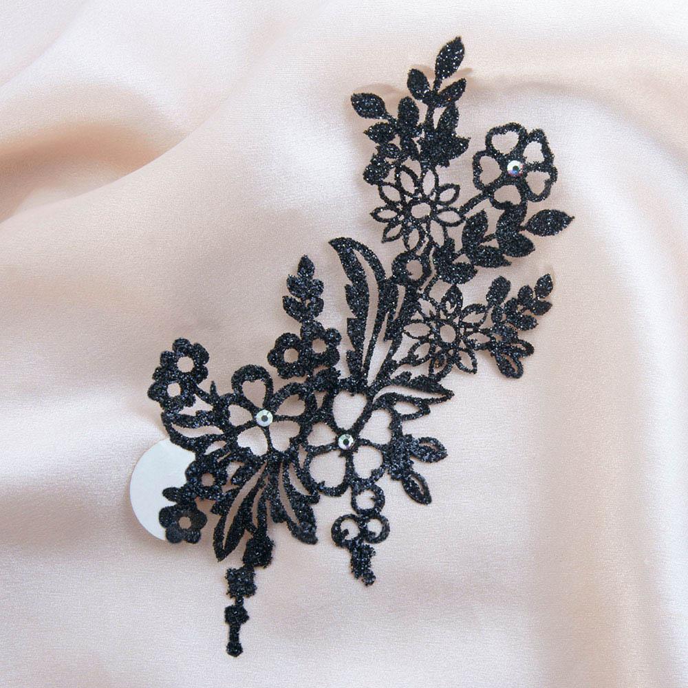 bijoux de peau jaipur noir fond satin