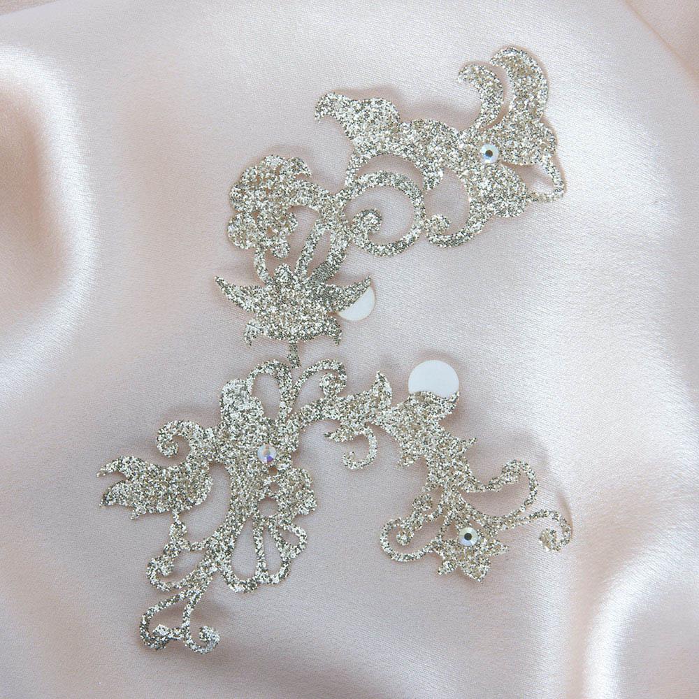 bijoux de peau jasmin pearl or fond satin