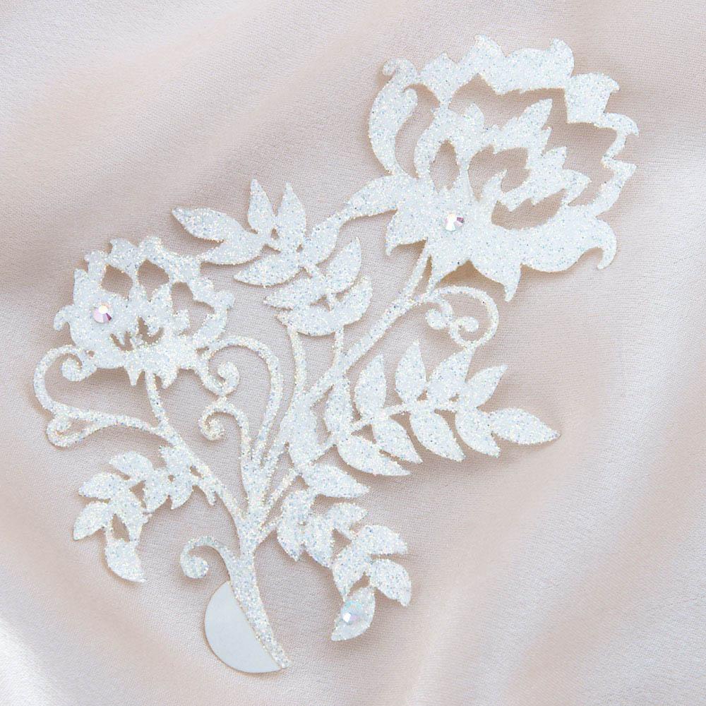bijoux de peau kashmira blanc fond satin