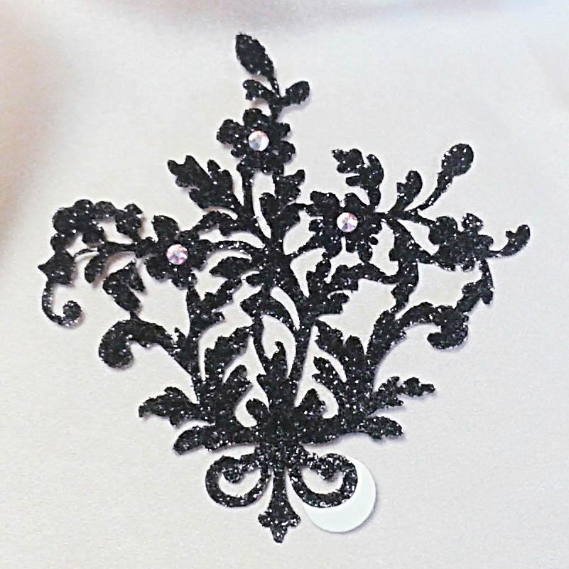 bijoux de peau lady jane noir fond satin