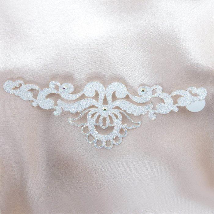 bijoux de peau magic lotus blanc fond satin