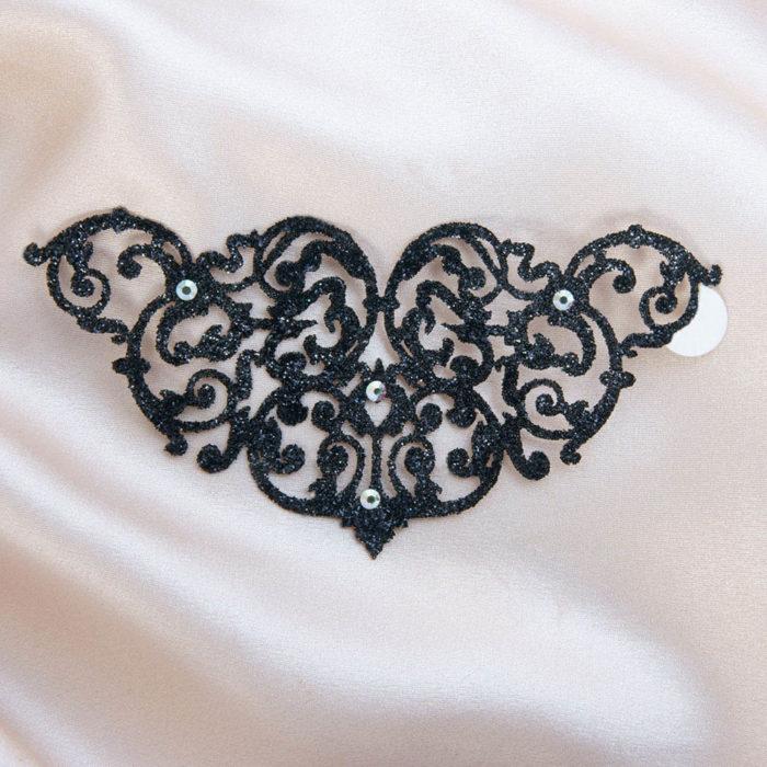 bijoux de peau marbella noir fond satin