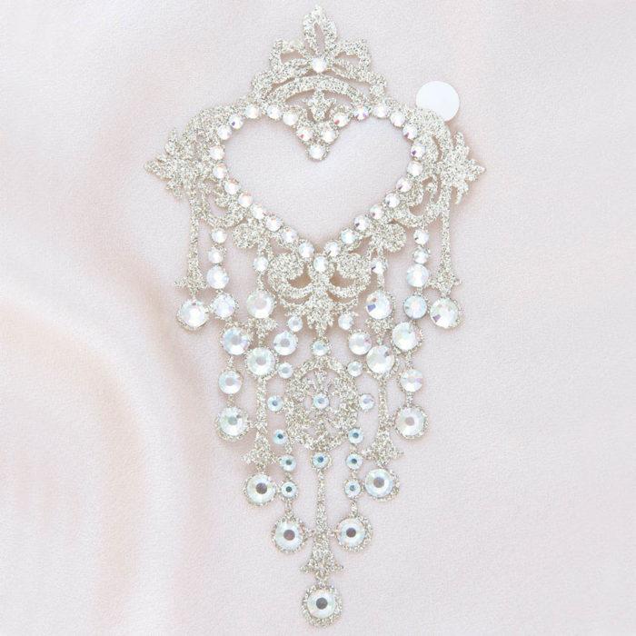 bijoux de peau niagara diamond or fond satin