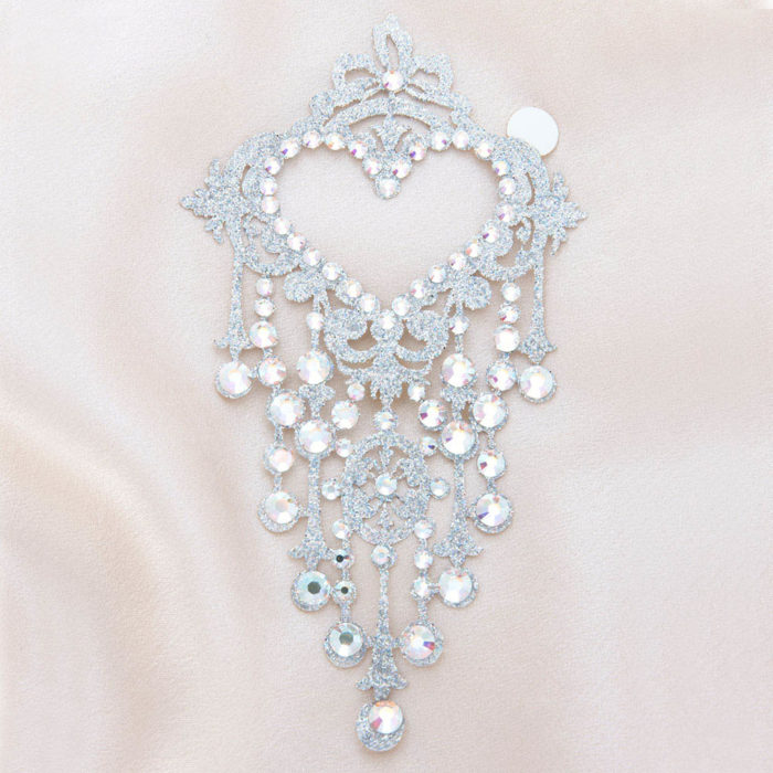 bijoux de peau niagara diamond argent fond satin