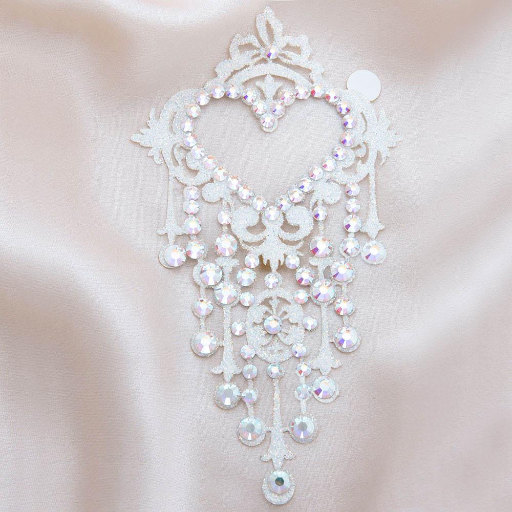 bijoux de peau niagara diamond blanc fond satin