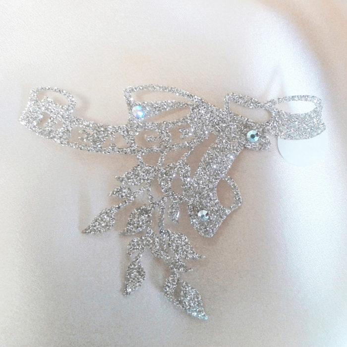 bijoux de peau peace or fond satin