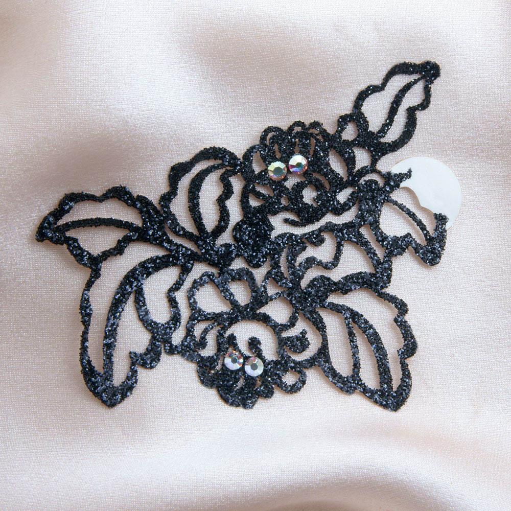 bijoux de peau queen elisabeth noir fond satin