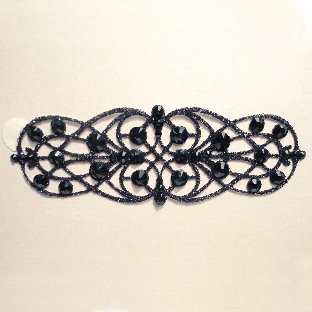 bijoux de peau strass salomé noir