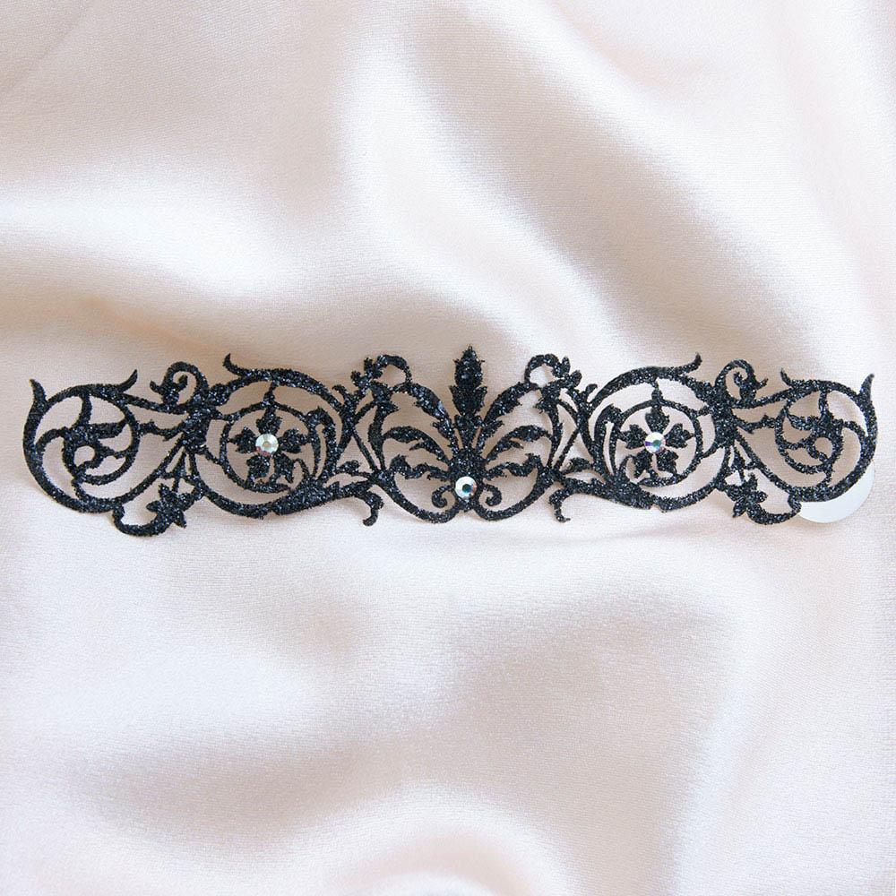 bijoux de peau sheherazade noir fond satin