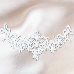 bijoux de peau guirlande rose blanc