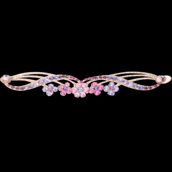 bijoux de peau roses fleurs Bracelet Adhésif Strassé Violetta rose