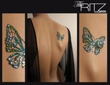 Bijou de Peau Ines de Castilho strass papillon ritz orphé