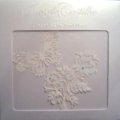 coffret bijoux de peau mariage papillon fleur
