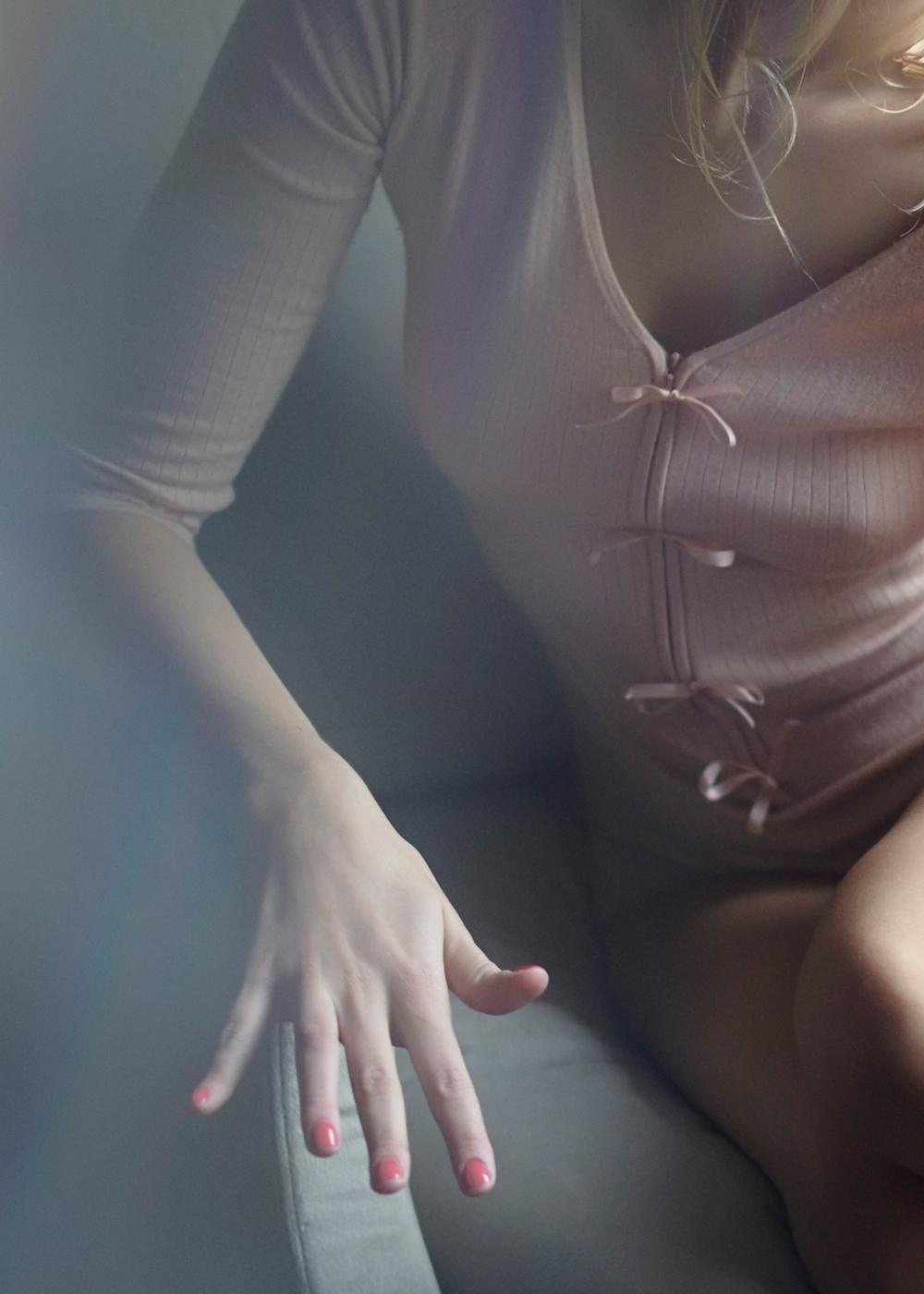 Lingerie de Luxe body cachemire bébé zoom